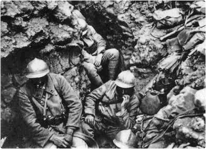 French soldiers at Verdun, 1916.