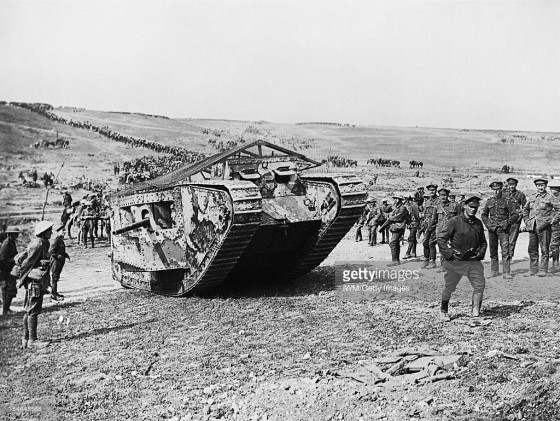 Among the British preparations at the Somme, they bring new tanks to the battlefield.