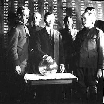 Secretary Baker draws the first lottery number