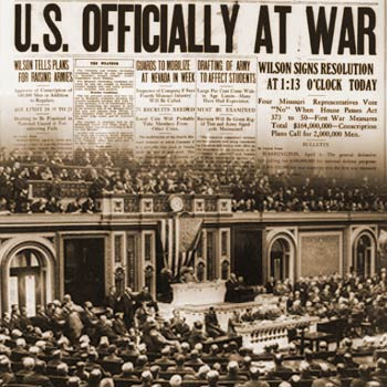 America Officially Declares War on April 6, 1917