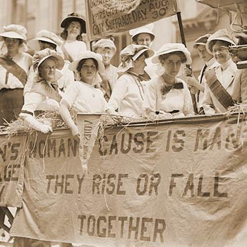The women's suffrage movement in WWI