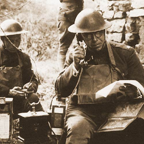 WW1 Field Telephone. Insider question: Who IS that on the phone?