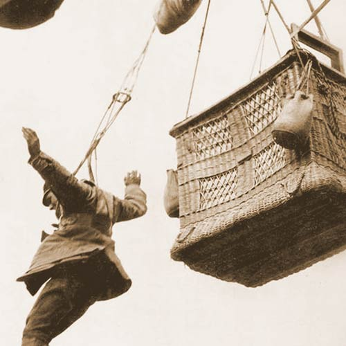 Observation balloons had parachutes attached to the outside of the baskets