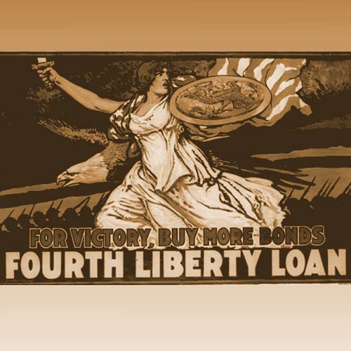 The 4th liberty bond drive goes into full swing to raise $6B just 50 days before the armistice