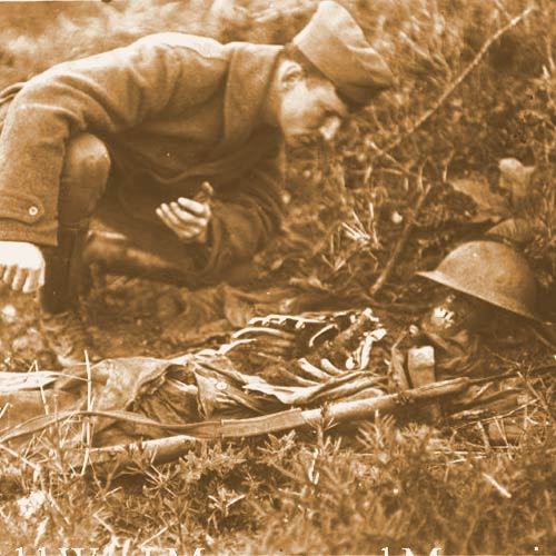A gruesome task faced the troops after the Armistice
