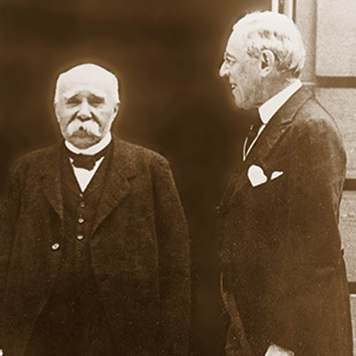 Clemenceau and Wilson at the Paris Peace Conference