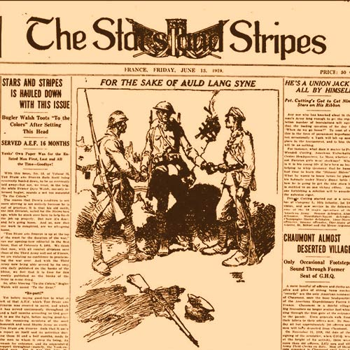 Cover of last issue of WWI Stars and Stripes