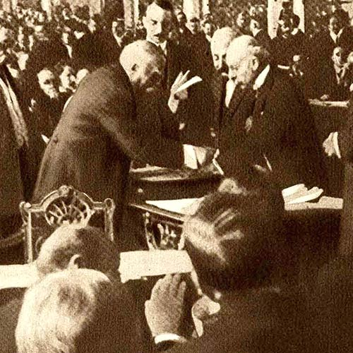 Signing the Peace Treaty at Versailles