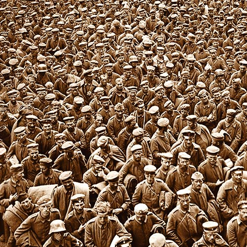 Tens of thousands of German soldiers are captured in October of 1918