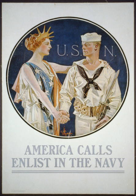 HESSWWI navy poster lady liberty