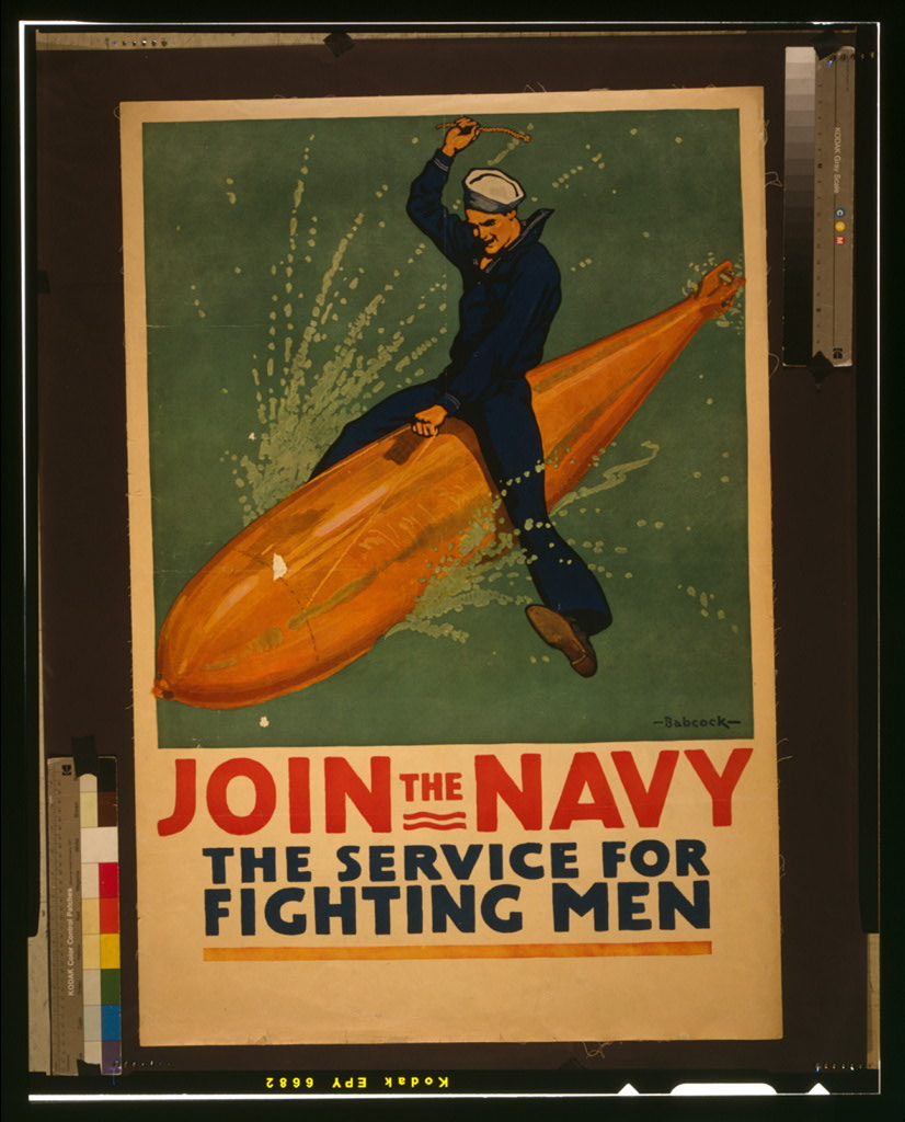 HESSWWI navy poster riding torpedo