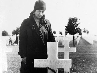 Maude Betterton visiting her sons grave